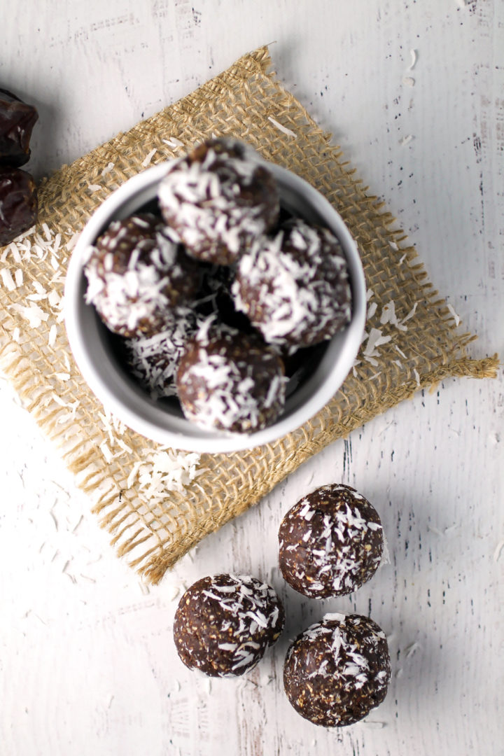 Chocolate Coconut Date Balls
