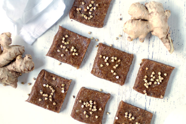 Spiced Ginger Raw Bars