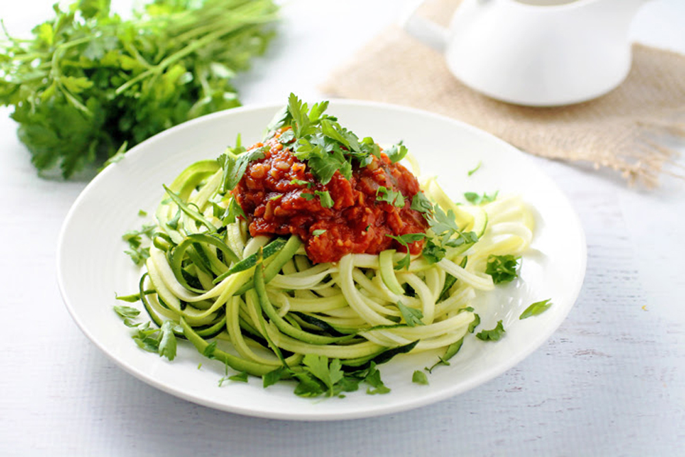 Lentil Fra Diavolo Over Zucchini Pasta – Spinach for Breakfast