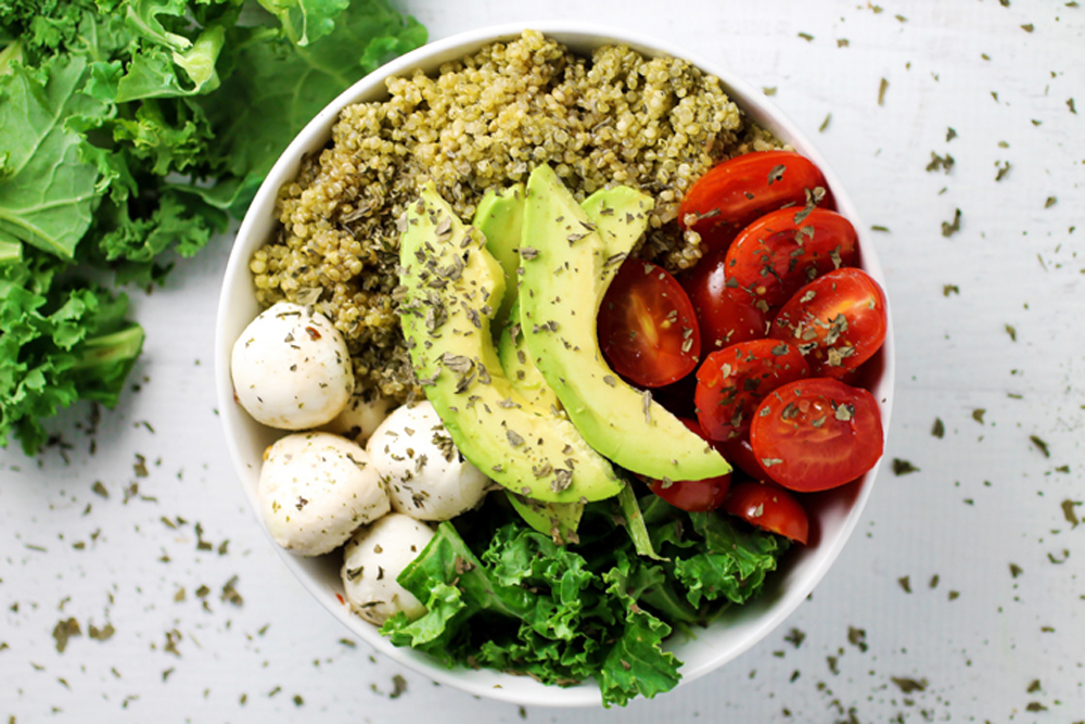 Caprese Quinoa and Avocado Bowl