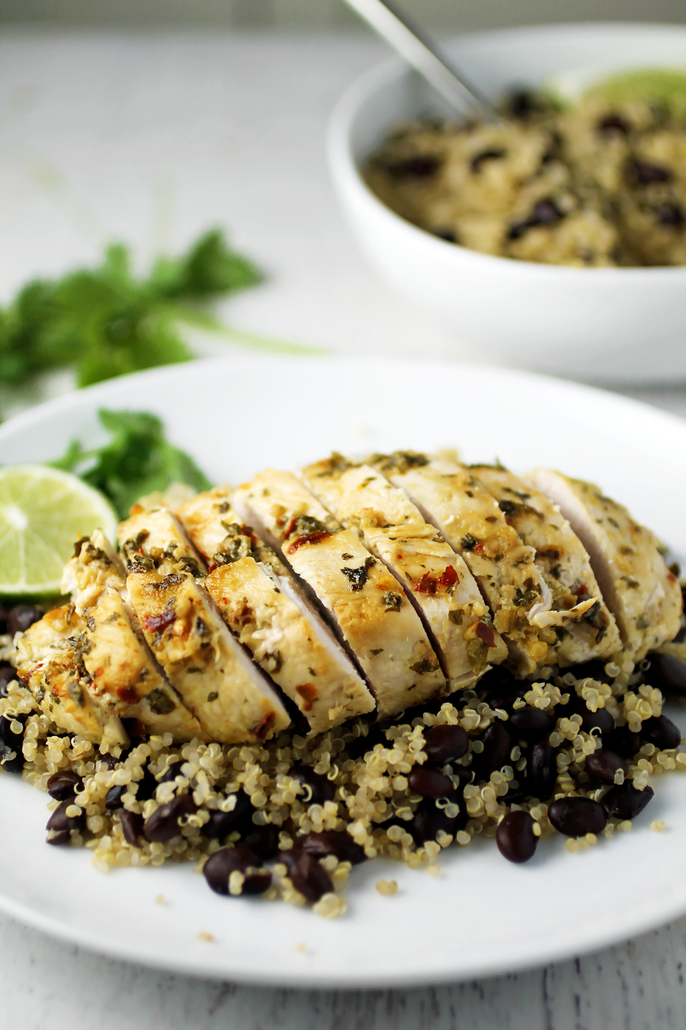 Cilantro Lime Chicken and Black Bean Quinoa