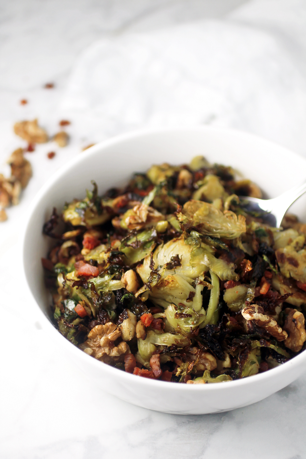 Roasted Shredded Brussels Sprouts with Pancetta and ...