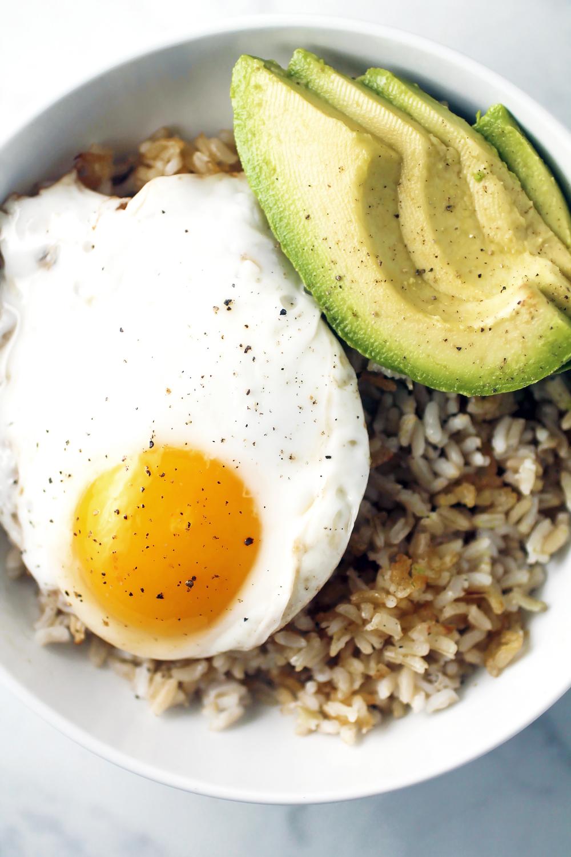 Crispy Brown Rice Breakfast Bowl