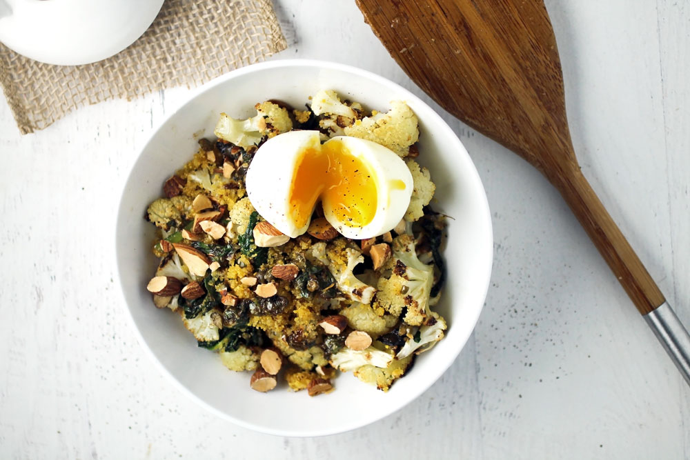Warm Cauliflower & Kale Salad