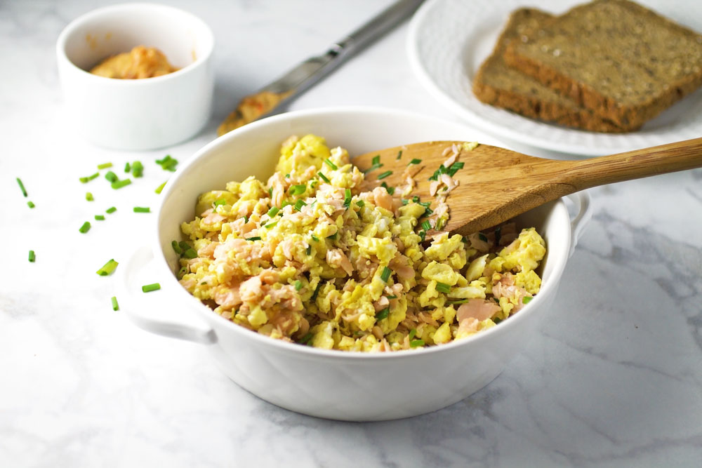 Smoked Salmon and Egg Scramble