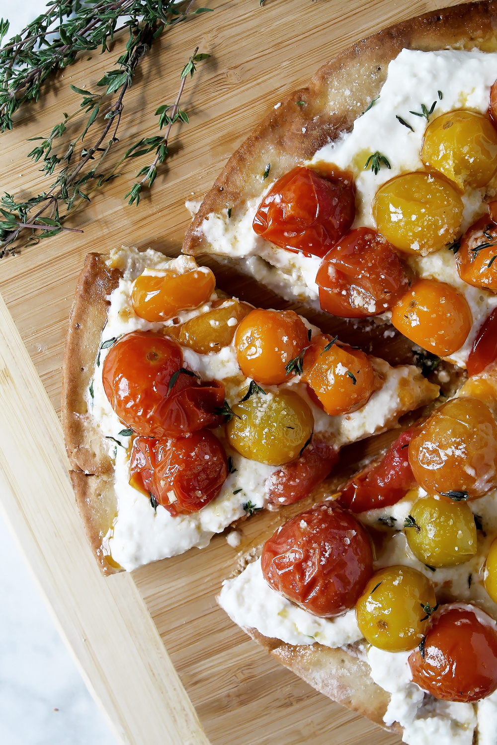 Whipped Feta and Roasted Cherry Tomato Pizza