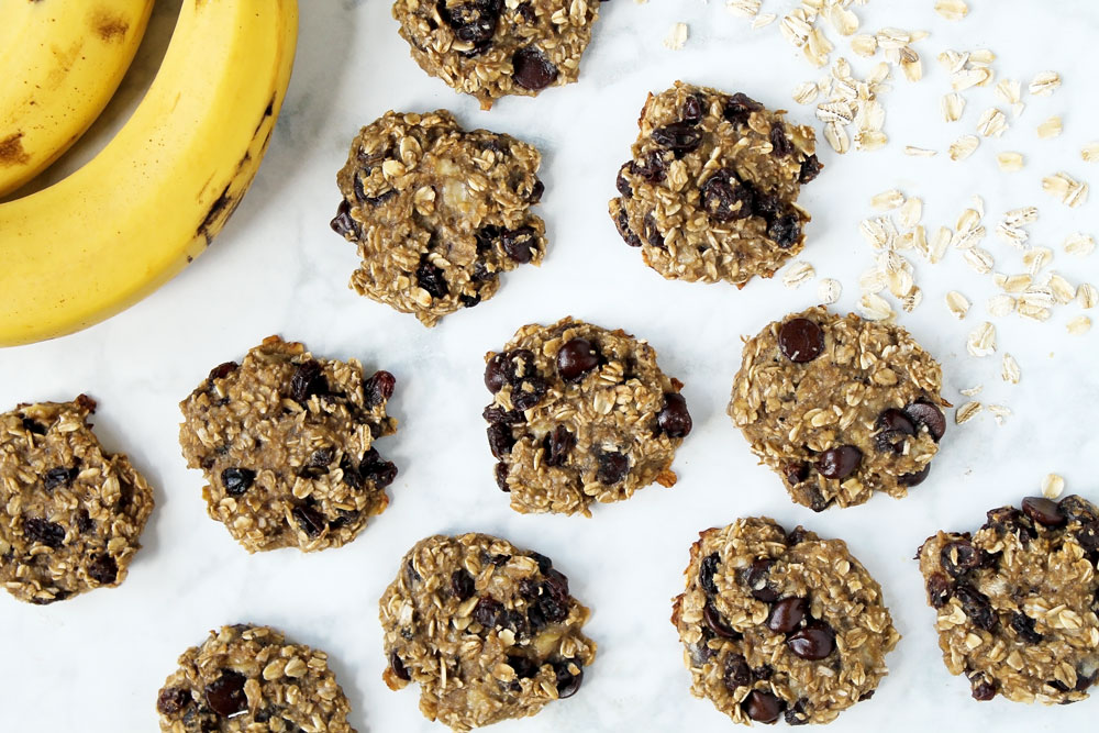 The Healthiest Oatmeal Banana Cookies