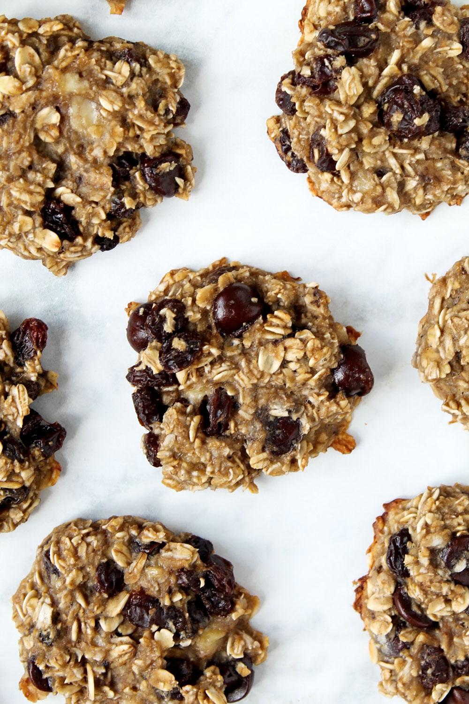 The Healthiest Oatmeal Banana Cookies