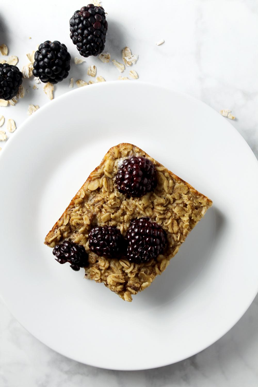 Blackberry Baked Oatmeal