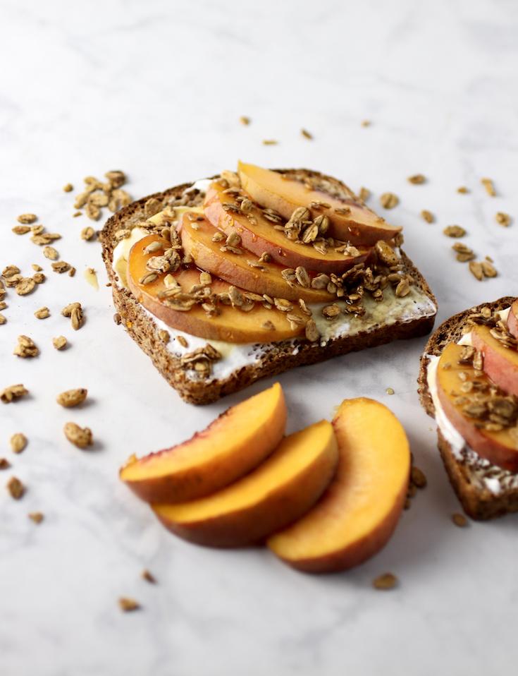 peaches and cream toast