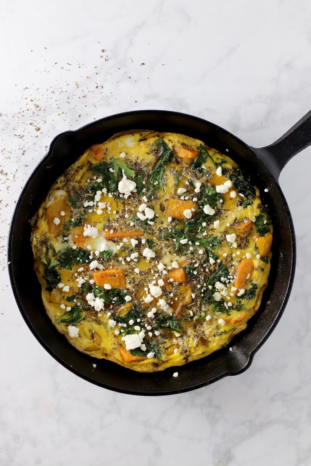 Butternut Squash and Kale Frittata