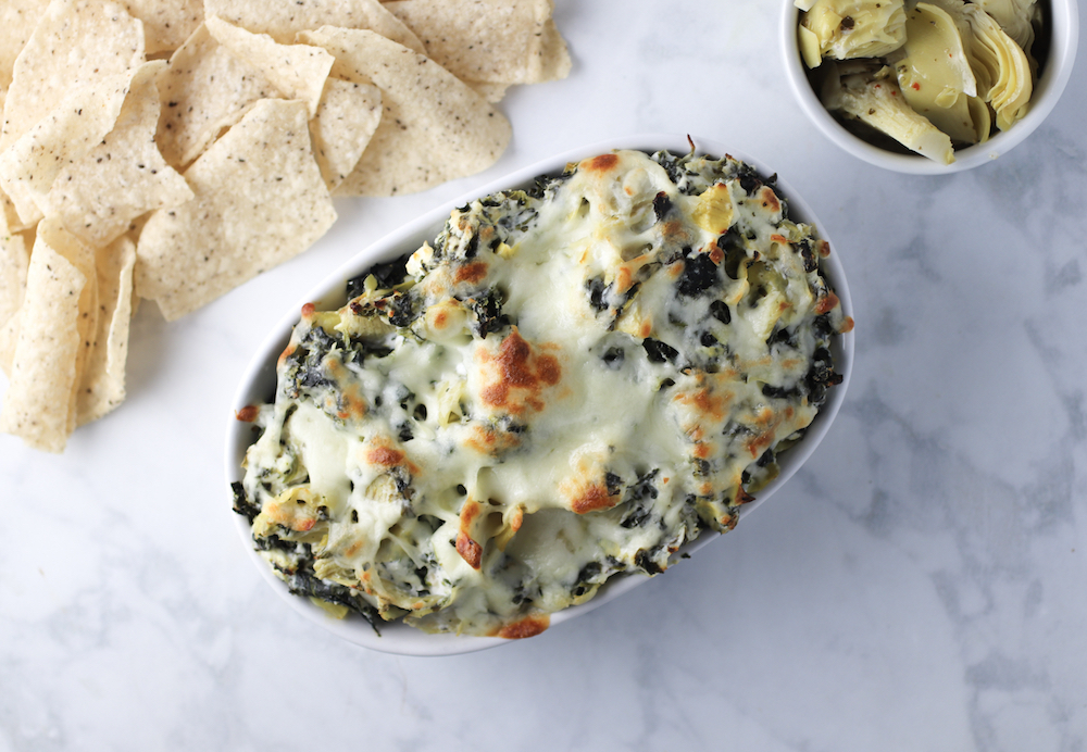 Skinny Spinach and Artichoke Dip - Spinach for Breakfast