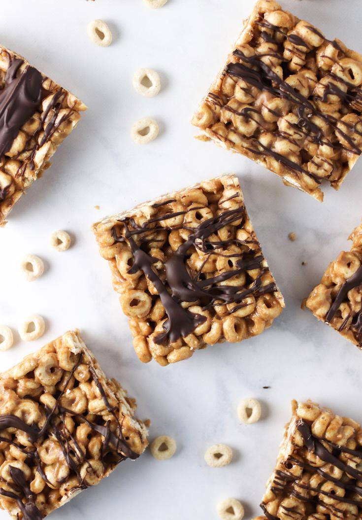 no bake peanut butter cheerio bars