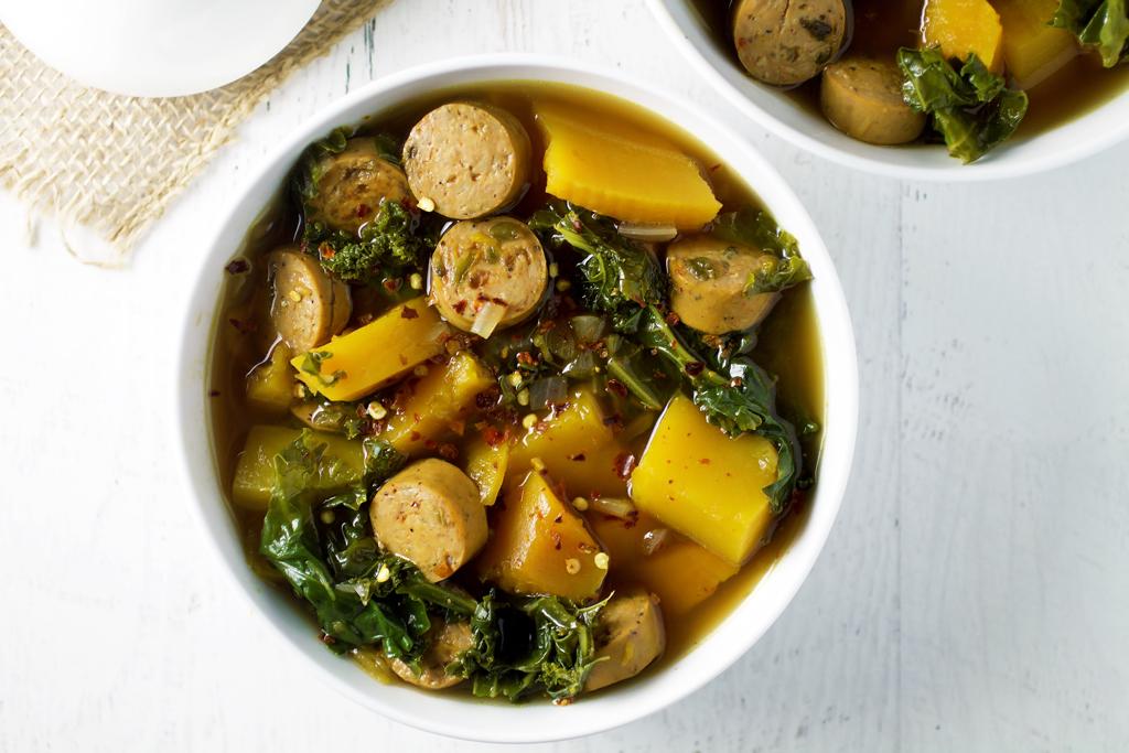 turkey sausage and kale soup