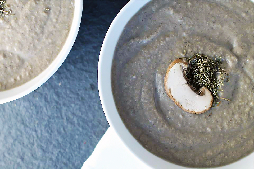Creamy Balsamic Mushroom Soup