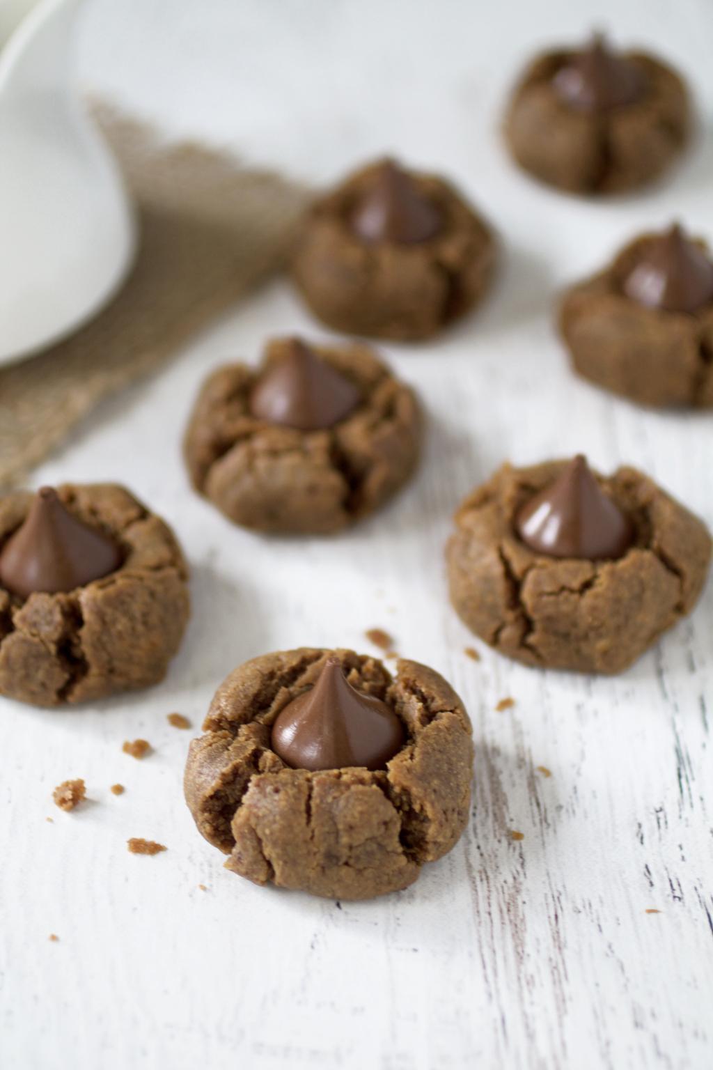 almond butter kiss cookies