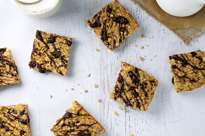 Gluten Free Chocolate Raisin Oat Bars