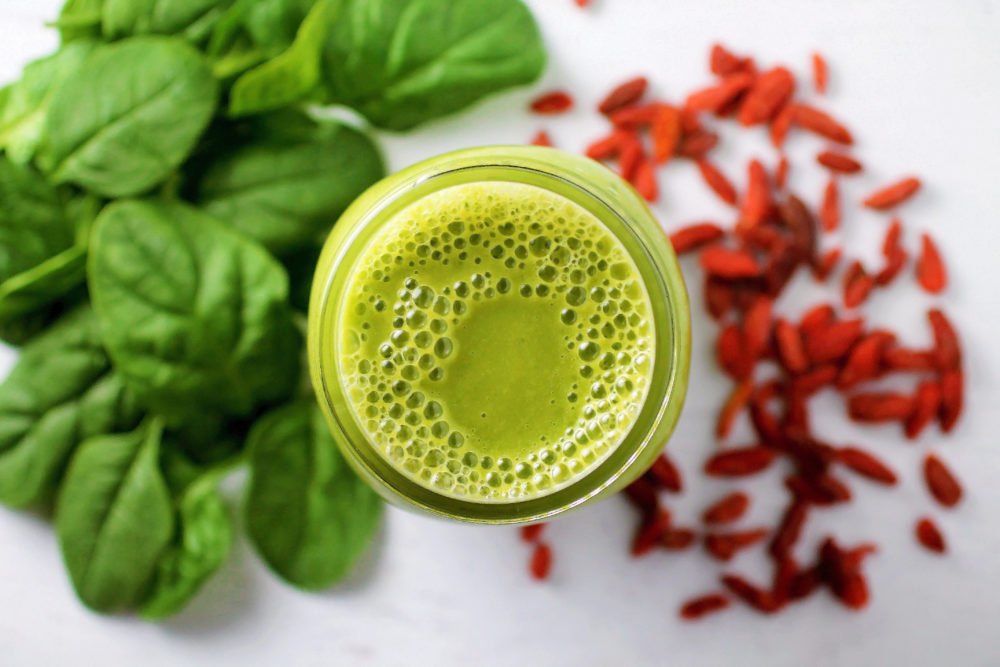 Spinach for Breakfast Smoothie