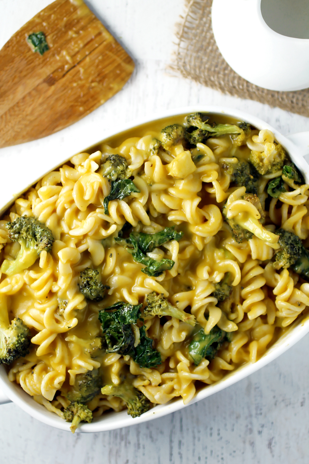 Butternut Squash Pasta with Broccoli and Kale