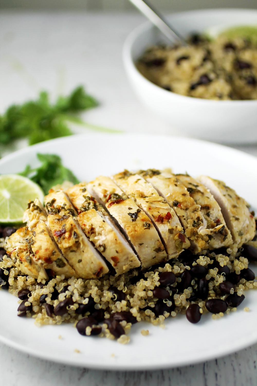 Cilantro Lime Chicken and Black Bean Quinoa