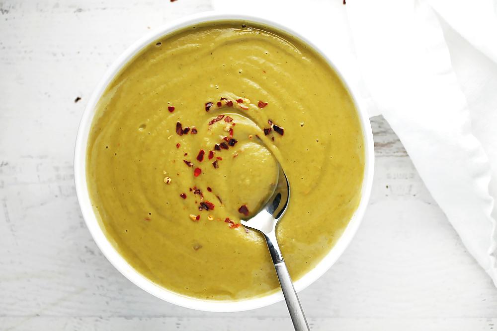 Creamy Dijon Broccoli Soup