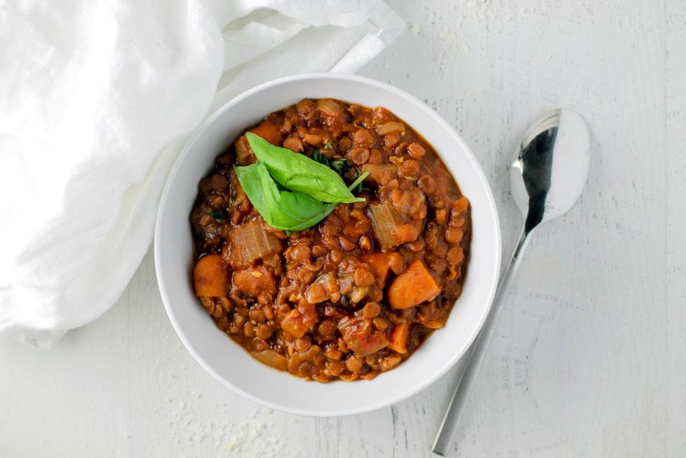 Easy Slow Cooker Lentil Soup