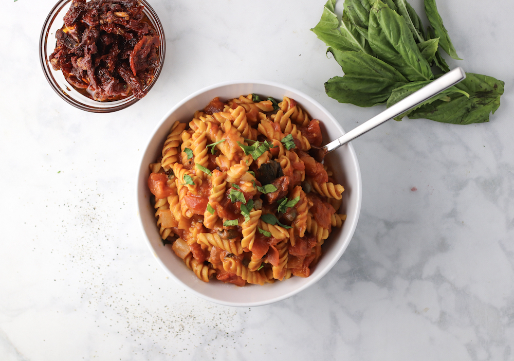 One Pot Creamy Sun-Dried Tomato Basil Pasta