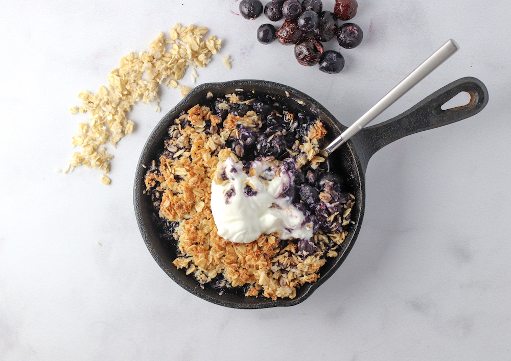 low sugar berry crisp