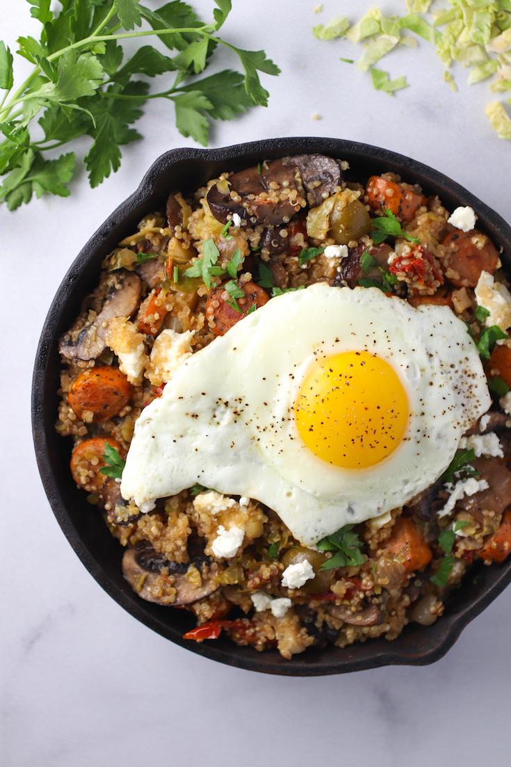 savory quinoa skillet