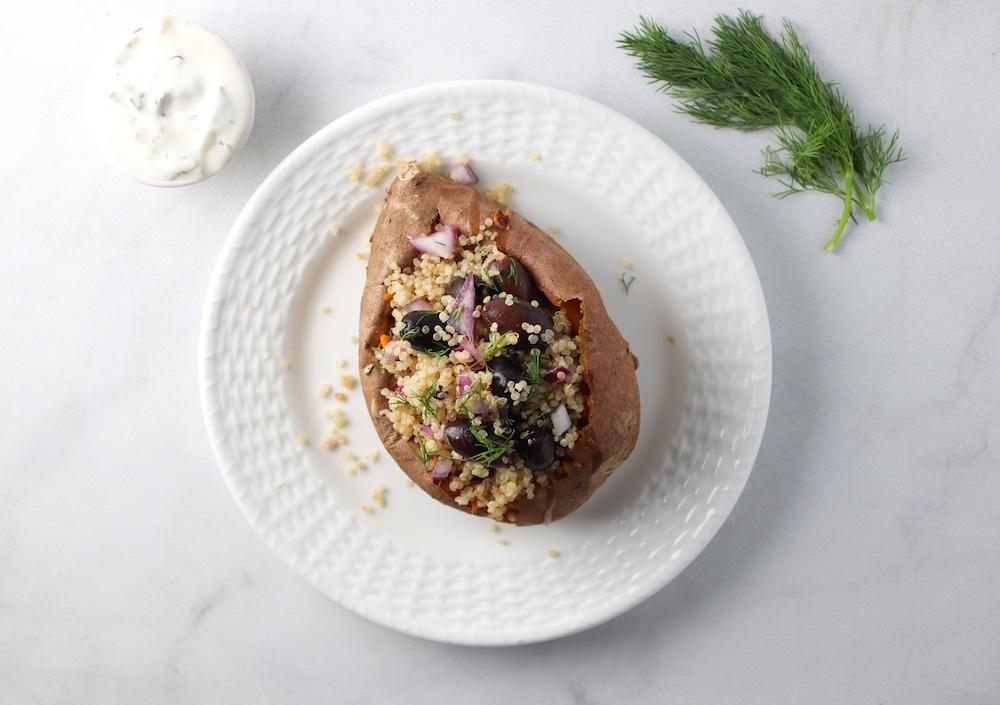 greek stuffed sweet potato