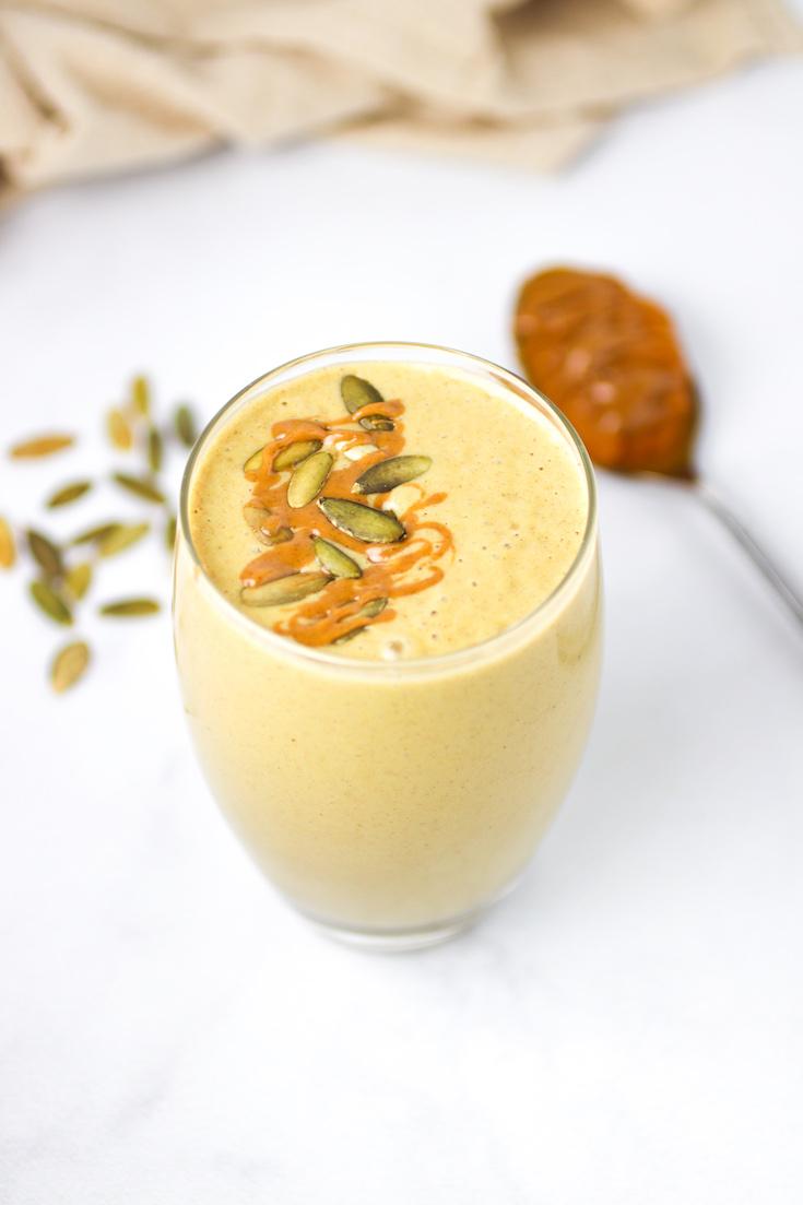 Peanut Butter Pumpkin Protein Smoothie