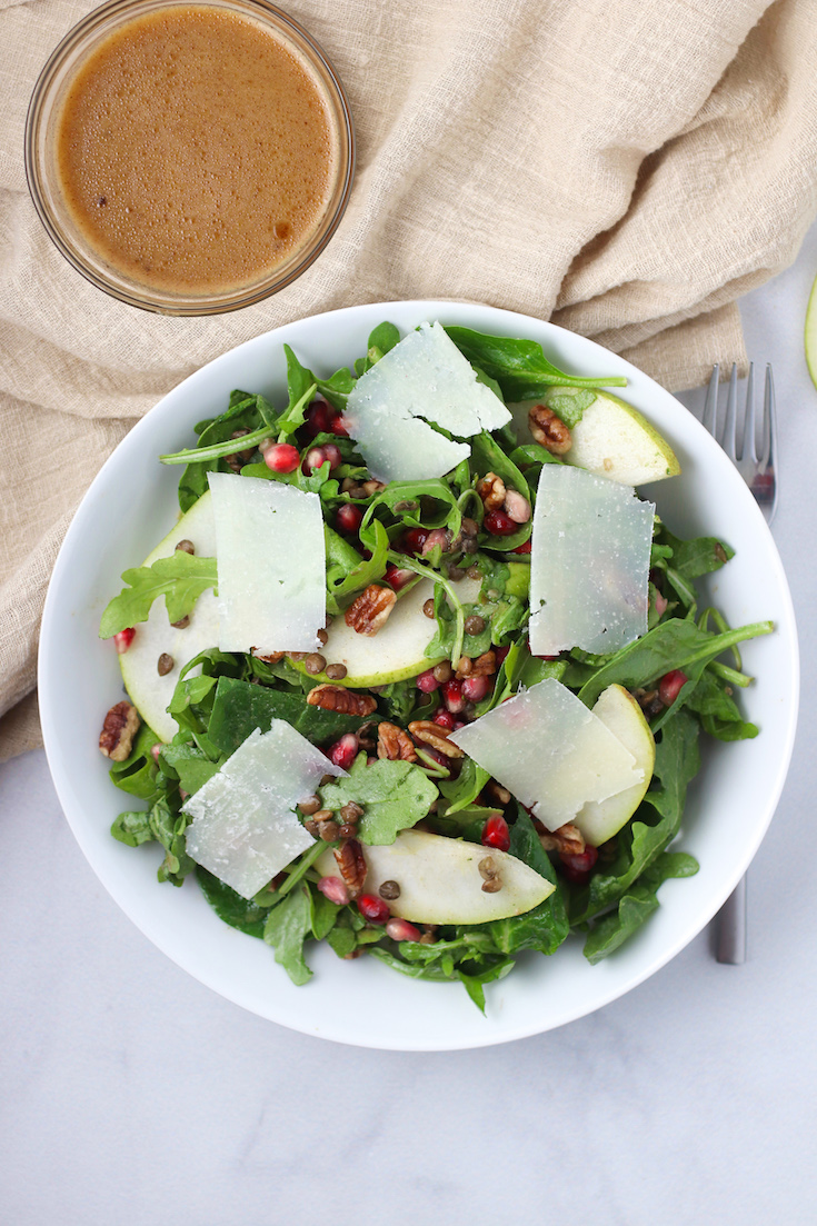 pear and lentil salad