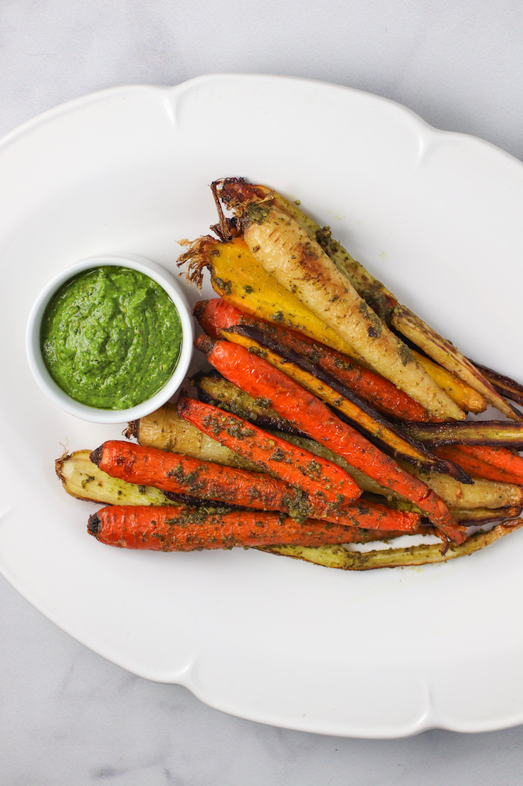 pesto roasted carrots