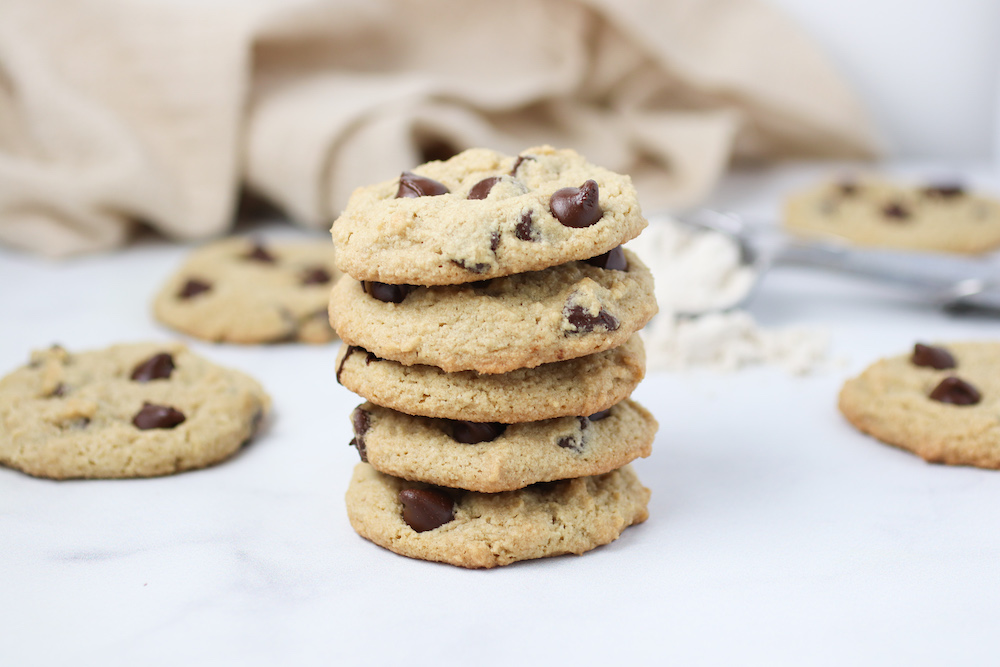 Gluten Free + Vegan Chocolate Chip Cookies