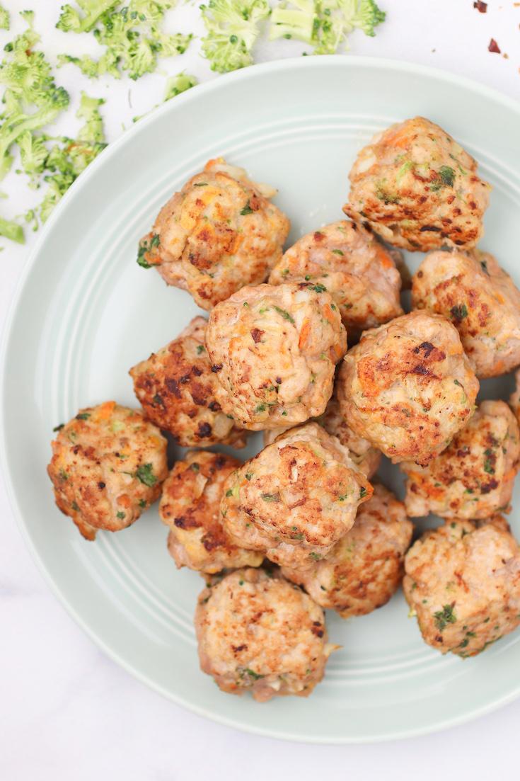 veggie loaded turkey meatballs