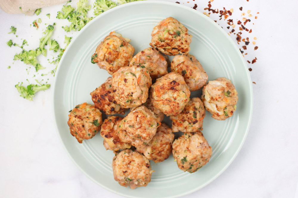 Veggie Loaded Baked Turkey Meatballs