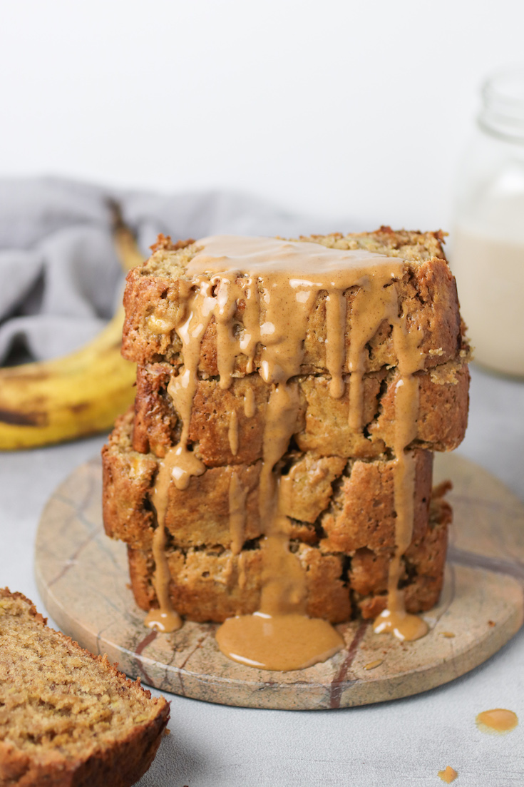 gluten free peanut butter banana bread