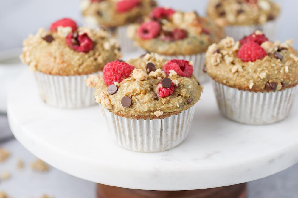 raspberry chocolate chip blender muffins
