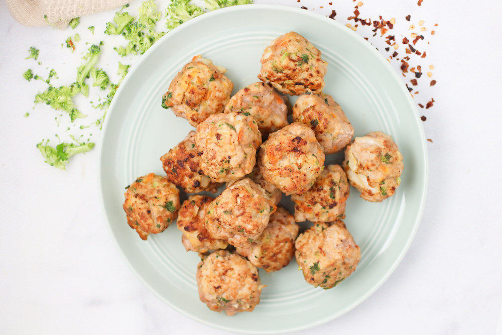 veggie loaded turkey meatballs