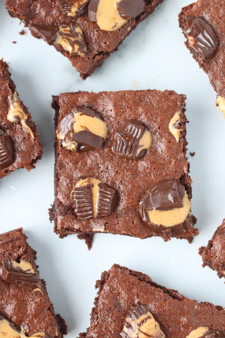 Paleo Peanut Butter Cup Brownies