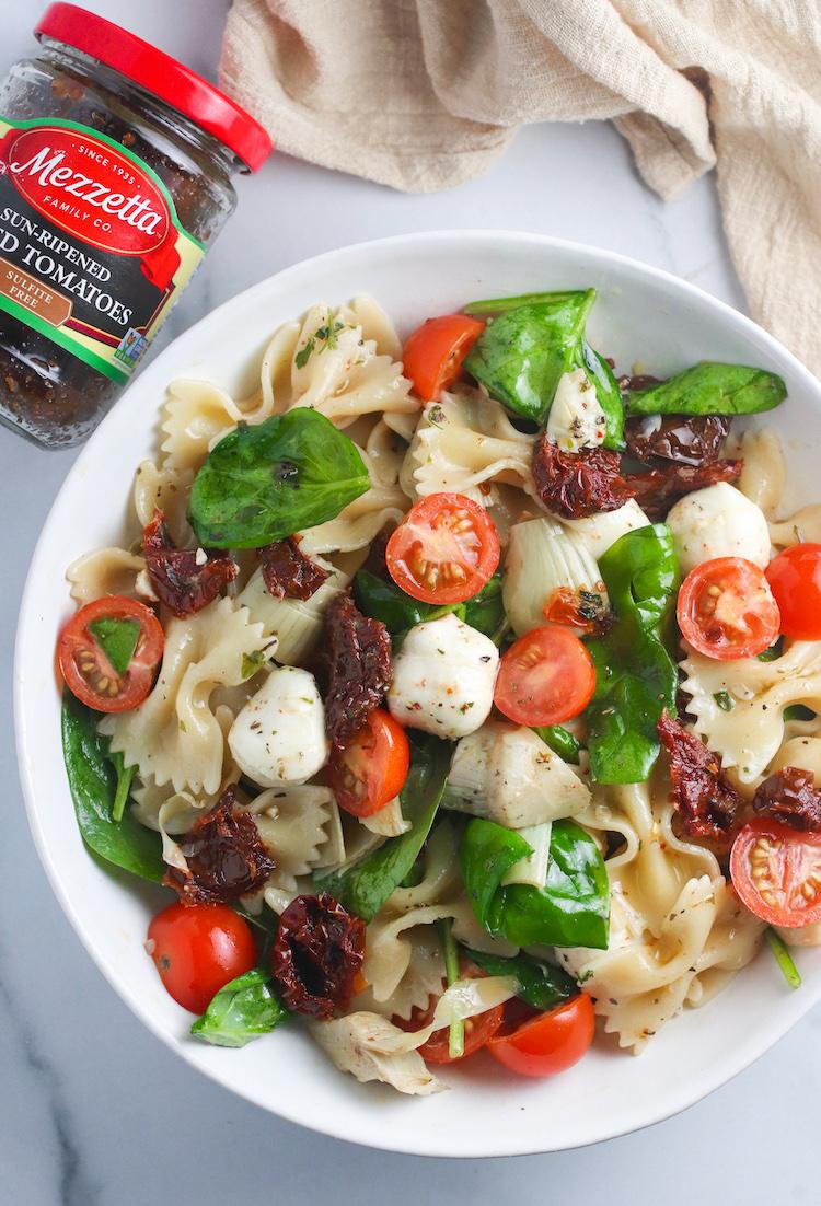 Sun-Dried Tomato and Artichoke Pasta Salad
