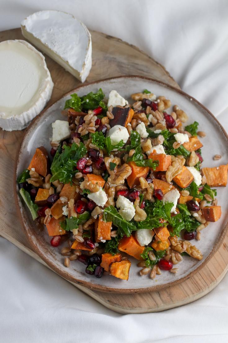 sweet potato and faro salad