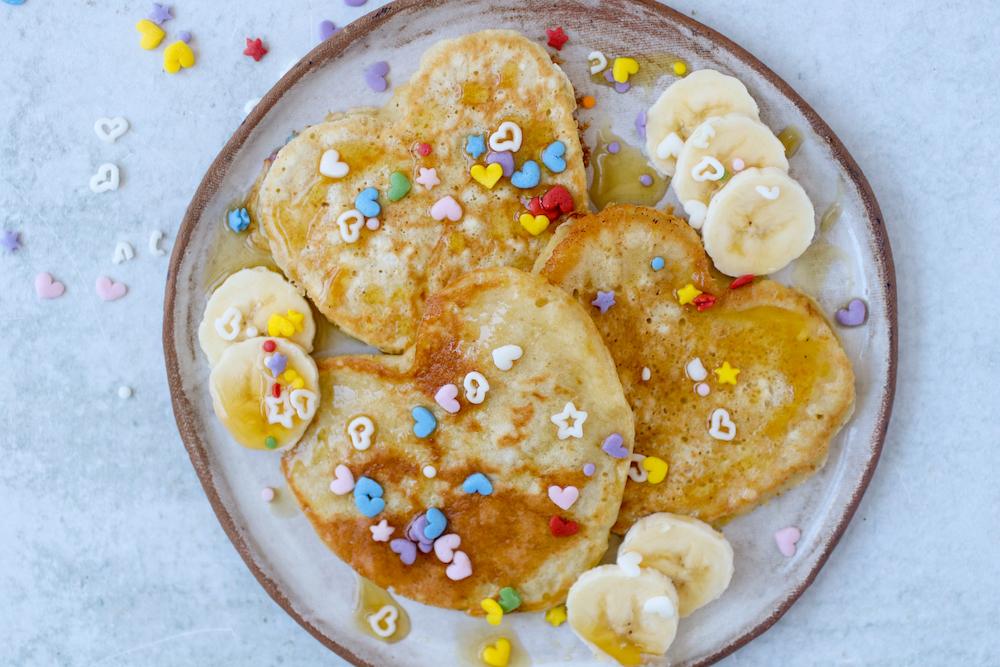 Valentine's Day Applesauce Pancakes